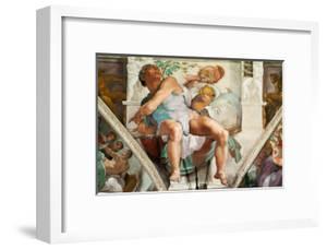 The Sistine Chapel; Ceiling Frescos after Restoration, the Prophet Jonah by Michelangelo Buonarroti