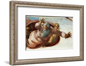 The Sistine Chapel; Ceiling Frescos after Restoration by Michelangelo Buonarroti