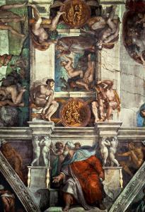 The Sistine Chapel: Creation of Eve, the Prophet Ezekiel by Michelangelo Buonarroti