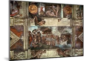 The Sistine Chapel: Noah's Drunkenness; the Flood by Michelangelo Buonarroti