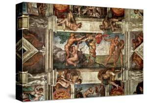 The Sistine Chapel: The Fall by Michelangelo Buonarroti