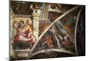 The Sistine Chapel: The Prophet Jeremiah; The Punishment of Aman, Book Esther by Michelangelo Buonarroti