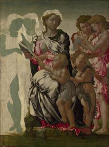 The Virgin and Child with Saint John and Angels (The Manchester Madonna), C. 1497 by Michelangelo Buonarroti