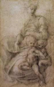 The Virgin and Child with the infant Baptist, c.1530 by Michelangelo Buonarroti