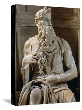 Tomb of Giulio II: Moses, by Buonarroti Michelangelo, 1513, 16th Century, Marble