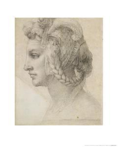 Ideal Head of a Woman by Michelangelo