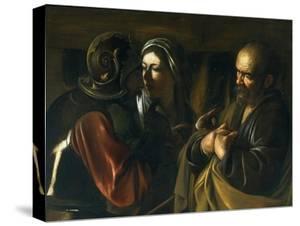 Denial of St Peter, 1610 by Michelangelo Merisi da Caravaggio