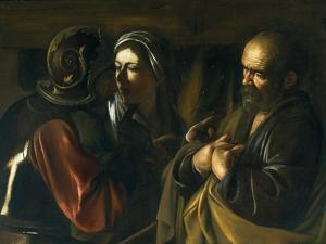 Denial of St Peter, 1610 by Michelangelo Merisi da Caravaggio