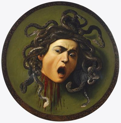 Medusa, Painted on a Leather Jousting Shield, C.1596-98 by Michelangelo Merisi da Caravaggio