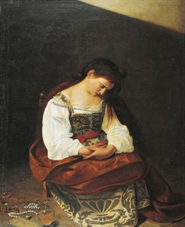 Penitent Magdalene, 1594-95 by Michelangelo Merisi da Caravaggio
