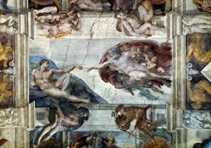 Michelangelo: Adam by Michelangelo