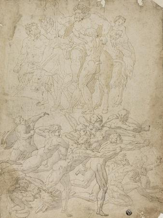 Archers Shooting at a Herm, Triumph of Bacchus, and Other Studies
