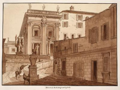 Michelangelo's House on the Capitoline Hill, 1833-Agostino Tofanelli-Giclee Print
