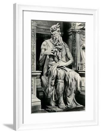 Michelangelo's Moses--Framed Art Print