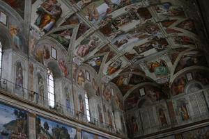 Frescoes of the Ceiling of Sistine Chapel by Michelangelo Schiavoni