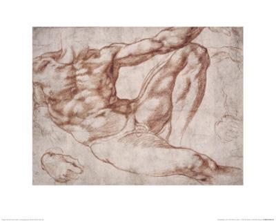 Study for Adam by Michelangelo