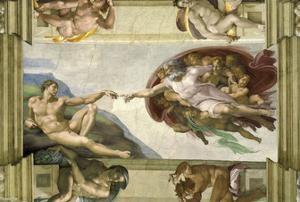 The Creation of Adam (Full) by Michelangelo