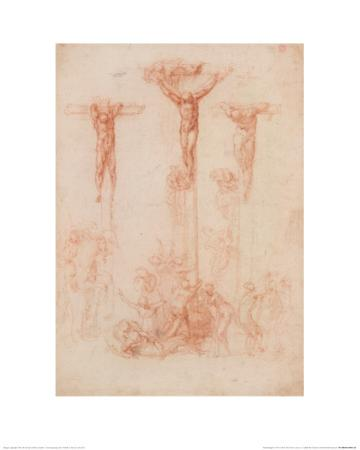 The Three Crosses by Michelangelo
