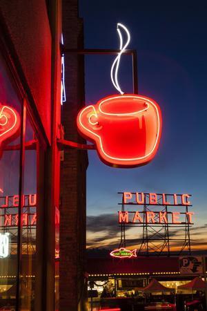 Pike Place Market at Christmastime. Seattle, Washington, USA