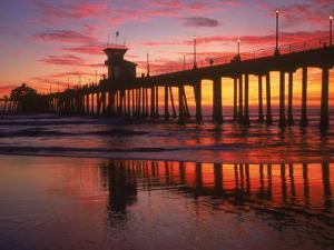 Huntington Beach Pier, CA by Michele Burgess