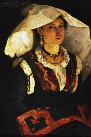 Woman in Sardinian Costume, Ca 1875