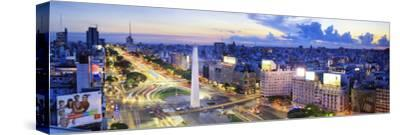 Argentina, Buenos Aires, Avenida 9 De Julio and Obelisk