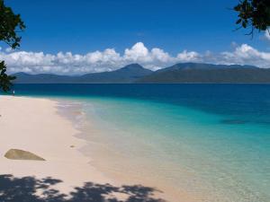 Beach on Fitzroy Island, Queensland, Australia by Michele Falzone