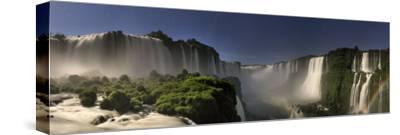 Brazil, Parana, Iguassu Falls National Park (Cataratas Do Iguacu) Illuminated Only by Monlight