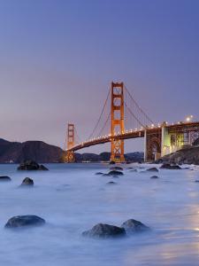California, San Francisco, Baker's Beach and Golden Gate Bridge, USA by Michele Falzone