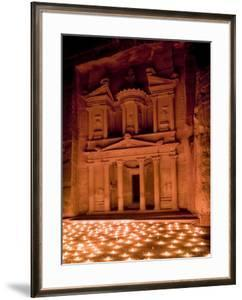 Candle Lit Courtyard of the Treasury (Al Khazneh), Petra (Unesco World Heritage Site), Jordan by Michele Falzone