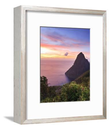 Caribbean, St Lucia, Petit Piton and Anse Des Pitons Beach