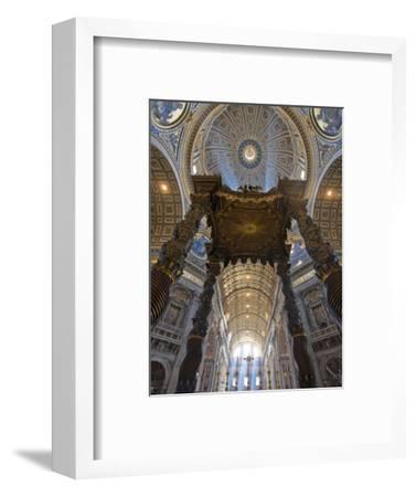 Detail of Bernini's Baroque Baldachin, St Peter's Basilica, Rome, Italy