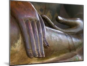 Detail of Buddha Statue, Wat Sa Si, Vientiane, Laos by Michele Falzone