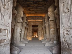 Egypt, Abu Simbel, Statues and Temple of Ramses Ii, Main Chamber by Michele Falzone