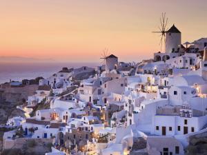 Greece, Cyclades, Santorini, Oia Town and Santorini Caldera by Michele Falzone