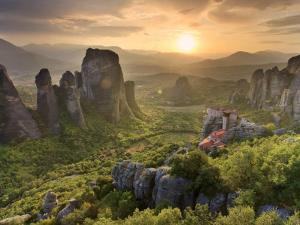 Greece, Thessaly, Meteora, Holy Monastery of Rousanou by Michele Falzone