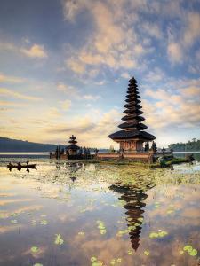 Indonesia, Bali, Bedugul, Pura Ulun Danau Bratan Temple on Lake Bratan by Michele Falzone