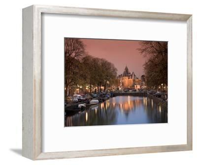 Kloveniers Burgwal Canal and Waag Historic Building, Nieuwmarkt, Amsterdam, Holland