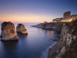 Lebanon, Beirut, the Corniche, Pigeon Rocks by Michele Falzone