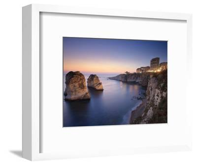 Lebanon, Beirut, the Corniche, Pigeon Rocks