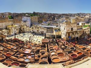 Morocco, Fes, Medina (Old Town), Traditional Old Tanneries by Michele Falzone
