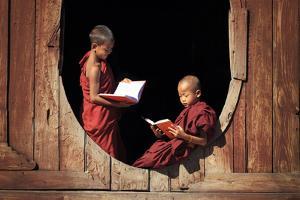 Myanmar (Burma), Shan State, Inle Lake, Nyaungshwe, Shwe Yaunghwe Kyaung Monastery by Michele Falzone