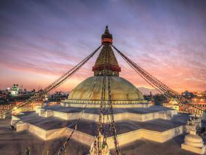 Nepal, Kathmandu, Bodhnath (Boudha) Stupa by Michele Falzone