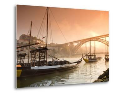 Porto Wine Carrying Barcos, River Douro and City Skyline, Porto, Portugal