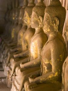 Rows of Buddha Statues, Wat Si Saket, Vientiane, Laos by Michele Falzone