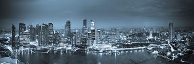 Singapore, Singapore Aerial View of Singapore Skyline
