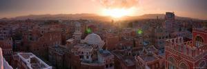 Skyline of Sana'a, Yemen by Michele Falzone