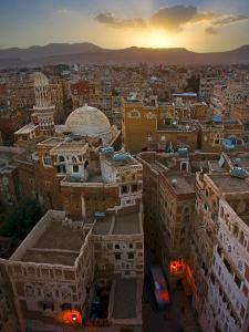 Skyline of Sanaa, Yemen by Michele Falzone