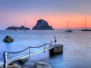 Spain, Balearic Islands, Ibiza, Cala D'Hort Beach and Es Vedra Island by Michele Falzone