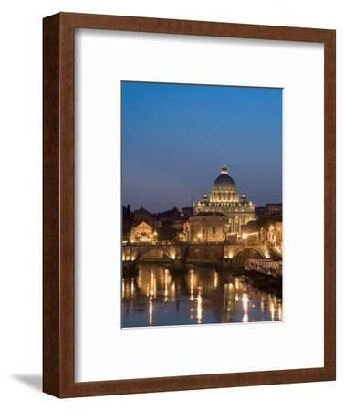 St Peter's Basilica and Ponte Sant'Angelo, Rome, Italy